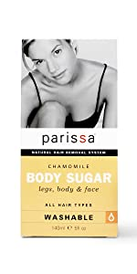 Parissa Natural Sugar(Chamomile) Hair Removal Waxing Kit for Legs, Body, Underarms & Face