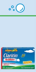Junior's Claritin Non-Drowsy Allergy RediTabs childrens claritin childrens allergy medicine