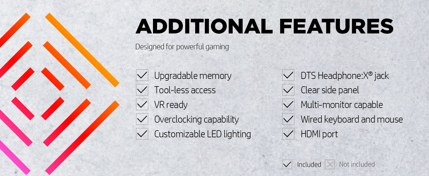 LED light DTS Headphone:X jack multi-monitor capable display wired keyboard mouse