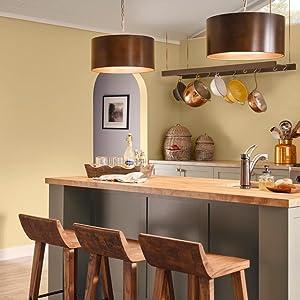 satin paint, kitchen paint, paint kitchen, yellow kitchen