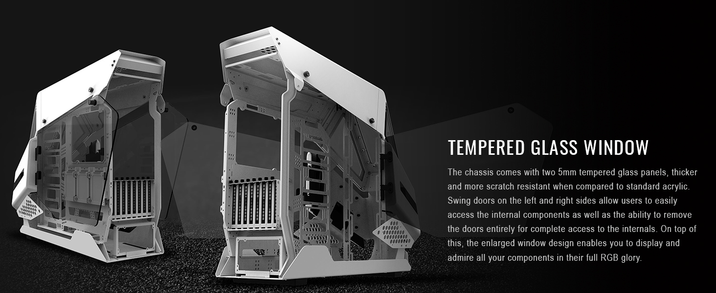 AH T600 Full Tower Chassis White
