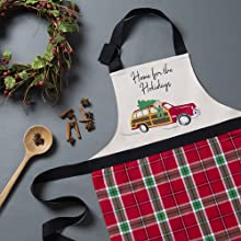 Elrene Home Fashions Home for the Holidays Kitchen Apron