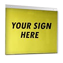 Acrylic Wall U-frame sign holder