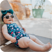 i play sunglasses girls swimsuit swim sun pool splash pad diaper reusable recycle renewable beach