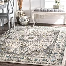 persian, vintage, area rug