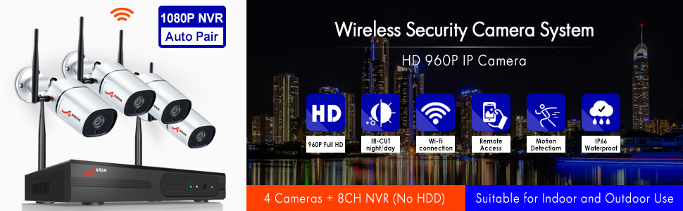 wireless security camera system HD