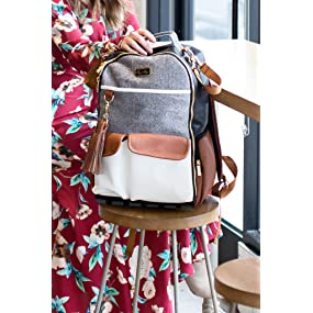diaper bag; itzy ritzy; backpack diaper bag; boss backpack