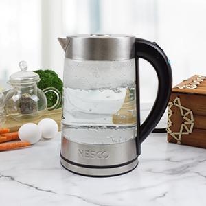 glass, water, kettle, nesco, glass water kettle, 1.8qt water kettle, boil
