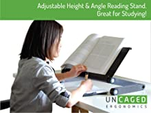 adjustable height angle ergonomic reading stand book holder
