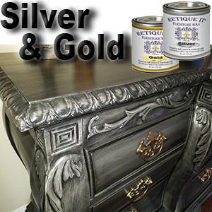 silver wax, gold wax