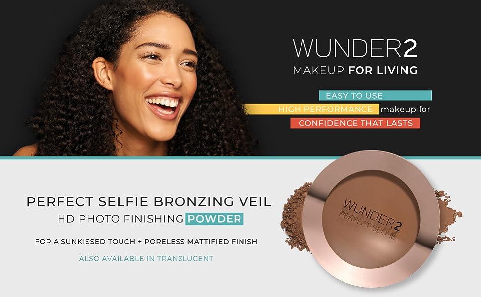 wunder2 wunderbrow makeup setting powder primer face brush eyebrow concealer translucent bronzer