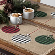 Elrene Home Fashions Rustic Ornaments Placemat Set