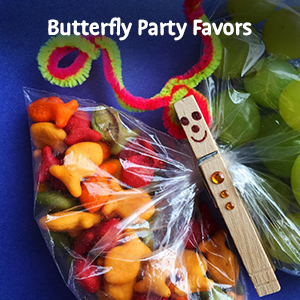 Alt text: Goldfish crackers butterfly party favors