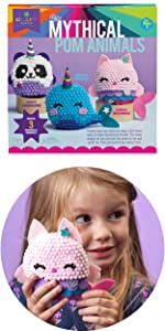 purrmaid meowmaid unicorn pandacorn narwhal mythical animals easy craft for kids pom by number