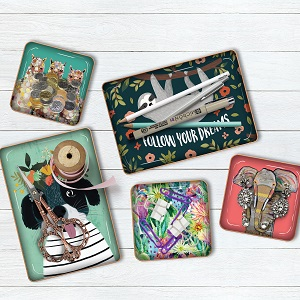 trinket, tray, dish, jewelry holder, metal coasters, desk accessories, pens, pencils, paper clips