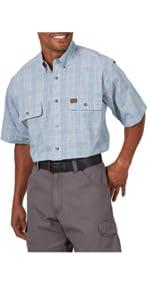 RIGGS Workwear Short Sleeve Foreman Plaid