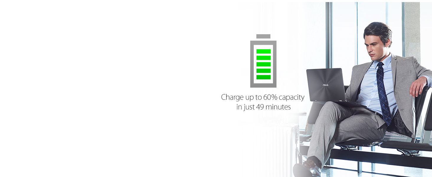 Charge up to 60% in 49 minutes