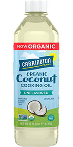 Carrington Farms Organic Liquid Coconut Cooking Oil, Unflavored
