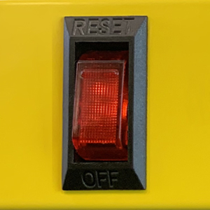 Lighted on and off switch indicator shows when the power is either on or off stanley power tools