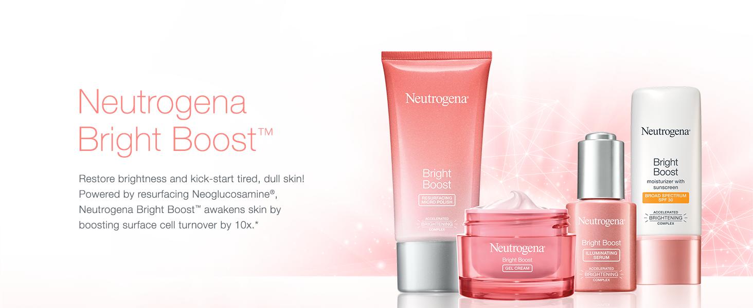 Neutrogena Bright Boost. Restore brightness and kick-start tired, dull skin.