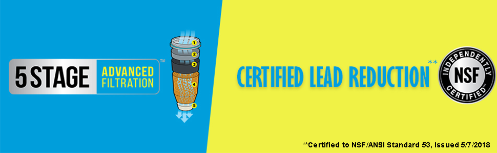 5 stage advanced filtration certified lead reduction