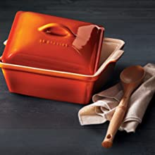 Le Creuset Stoneware shown in Flame