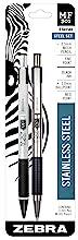zebra pen set, stainless steel mechanical pencil and retractable pen set, M/F 301