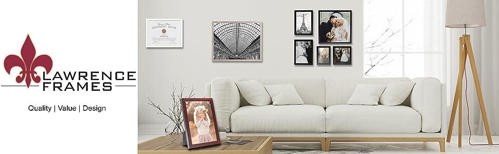 Lawrence Frames, Wood Frames, Quality Wood Frame, Black Wood Frame, White Wood Frame, Brown Wood