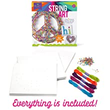 easy string art complete craft kit hi heart peace sign yarn art
