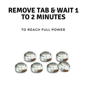 pull tab and wait to activate hearing aid batteries size aids mercury free device a ends