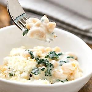 Garlic Chard Penne & Chreese