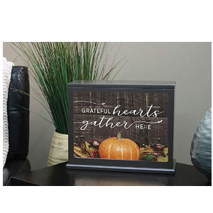 Grateful Hearts Fall Harvest Light Box Insert