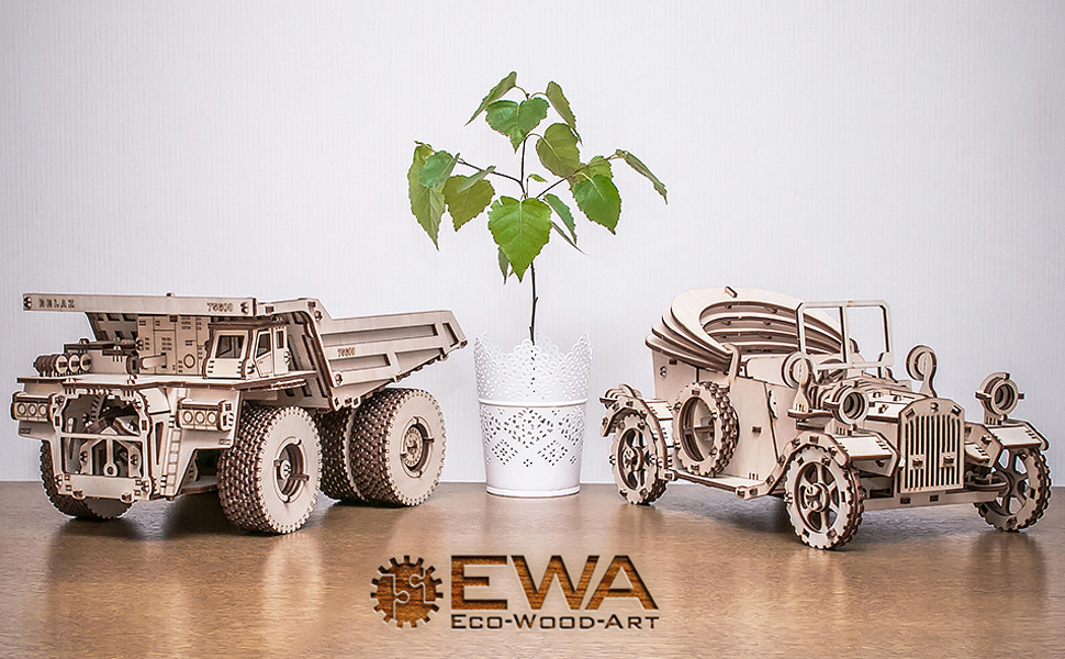 ewa eco wood art puzzle wood plywood 3d model
