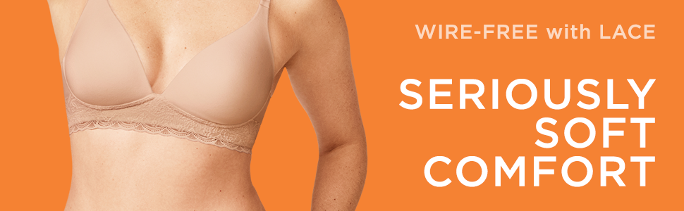 warner's bras, best bras, wire-free bra, wireless bras, lace bras, plunging neckline bras