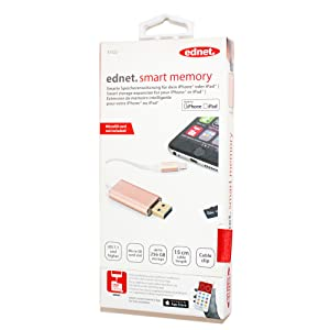 Premium packaging apple mfi certified smart memory app and smart memory adapter