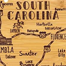 South Carolina Cutting Board, South Carolina Cheese Plate, South Carolina Serving Board, South Carol