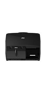 Tork 565728 Twin Bath Tissue Roll Dispenser for OptiCore