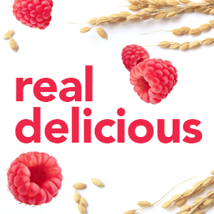 Plump raspberries and oats show that Special K cereals are real delicious
