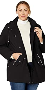 Hooded Sweatshirt Jacket with Asymetrical Zip