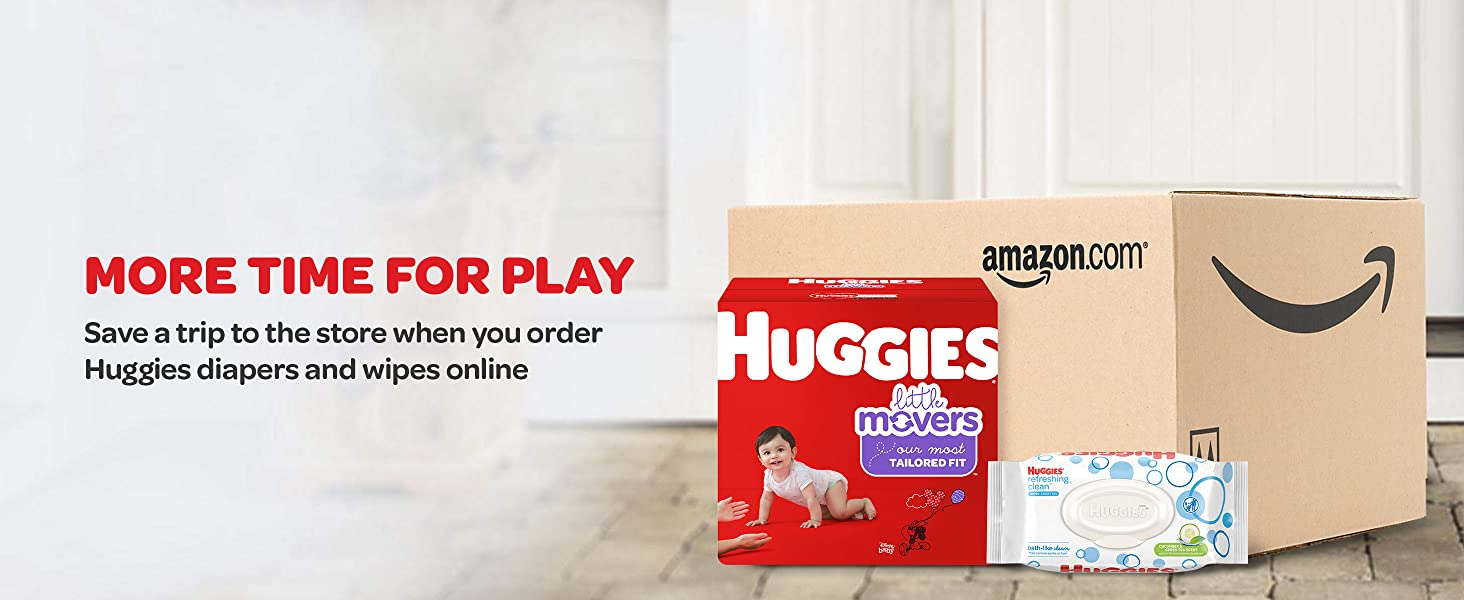 Huggies Little Movers Baby Diapers - Save Time and Money with Amazon Subscribe & Save