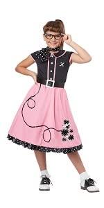 Greece, Pink Ladies, Poodle Skirt, 1950's, 50's, Fifties, Sock Hop, Decade Costume, Pink Skirt, Girl