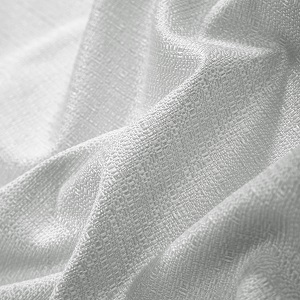 Texture Room Darkening White Blackout Thermal Solid Ivory Pair Drape