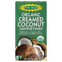 Let's do organic creamed coconut