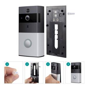 easy install wifi video camera doorbell with door chime