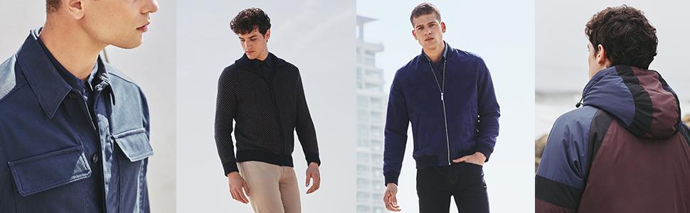 jackets, long sleeves, long sleeve shirts, perry ellis
