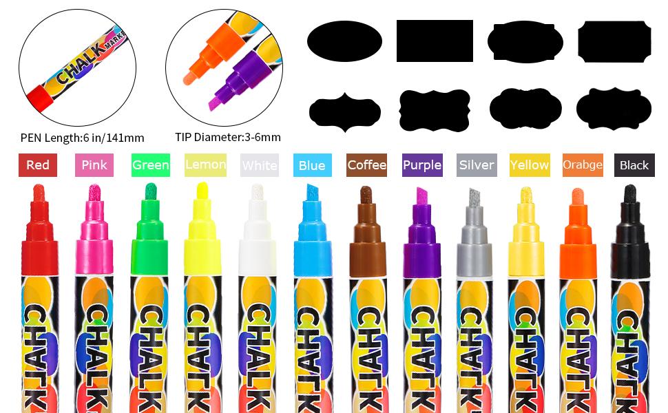 Chalk Marker Pen Set