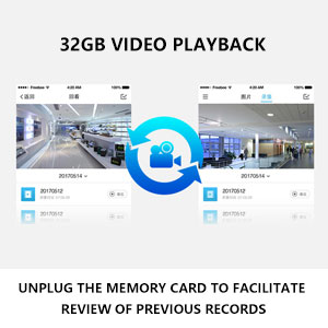 video doorbell with 32g memory storage card