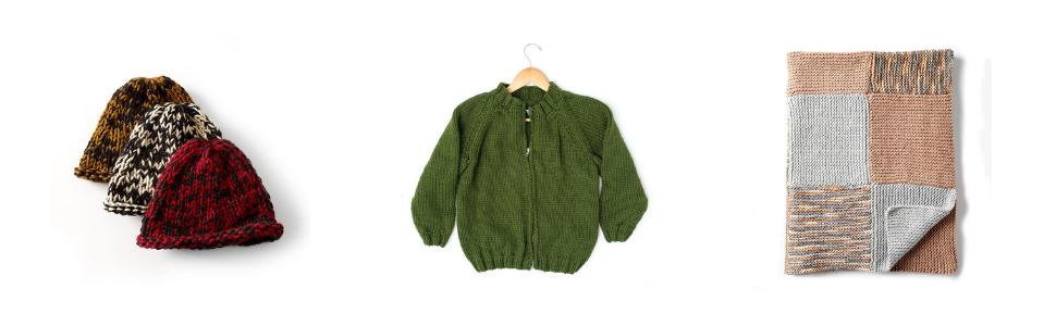 Bernat Softee Chunky Yarn Blanket Beanie Hat Jacket Kids