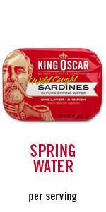 water, sardines