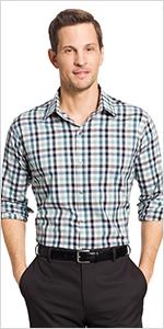 van heusen big tall flex long sleeve shirt, big tall long sleeve shirt